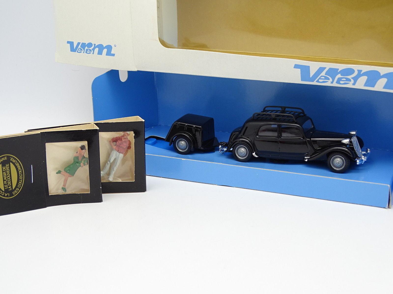 Verem Cec 1 43 - Citroen Traction+Anhänger+Figuren
