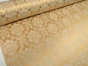 Madagascar-New-Gold-Designer-Curtain-Damask-Upholstery-Furnishing-Fabric