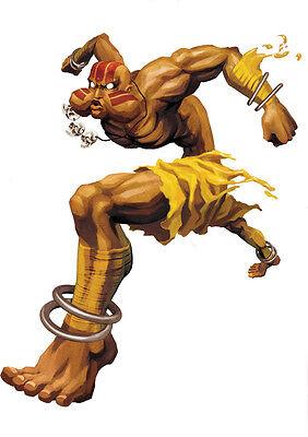 Sticker Autocollant Poster A4 Jeux Video Street Fighter 4. Personnage Dhalsim Vivo Y Grande En Estilo