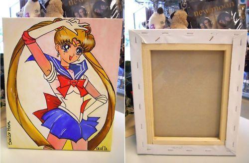 Anime manga sailor moon sind tsukino quadro d d a mano.
