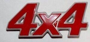 Scritta 4x4 Modanatura Lato Logo Stemma Fregio Rosso FIAT PANDA 86 02 1986 2002