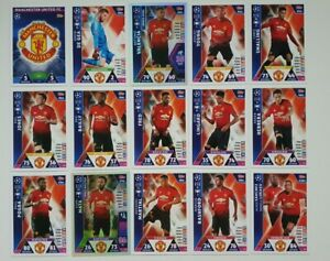 Match-Attax-UEFA-Champions-Soccer-Cards-Manchester-United-Team-Set-Pogba