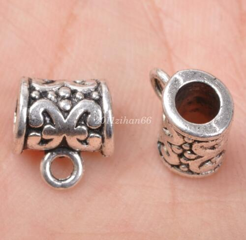 20pcs Wholesale Tibetan Silver Bails Bead Fit European Charm Bracelet bail B3061