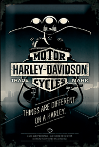 Nostalgic-Art-Harley-Davidson-Things-Are-Different-On-a-Harley-Shield-20x30