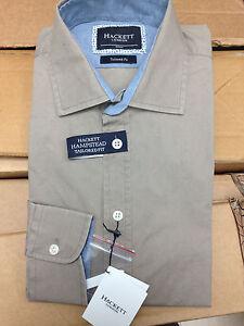 Camicia-Hackett-London-uomo-Tailored-Fit-Small-S-beige-cotone