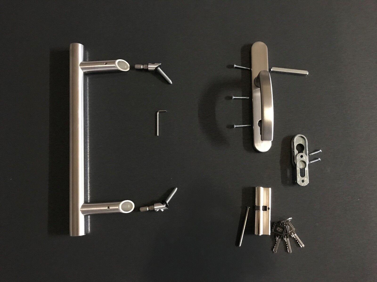 Haustürgriff Stoßgriff Edelstahl Griffstange Griff Set 40cm 60cm Produkt DE001