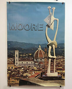 Rare-Original-1972-HENRY-MOORE-Florence-Italy-Firenze-Forte-Di-Belvedere-Poster