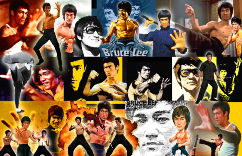 Bruce Lee Collage Poster