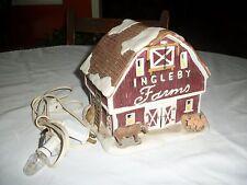 "Dept 56 or Lemax "" Ingleby Farms "" Christmas Snow Village Barn"
