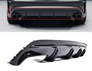 Para-Mercedes-Benz-CLA-45-AMG-w117-difusor-trasero-difusor-nightpaket-negro