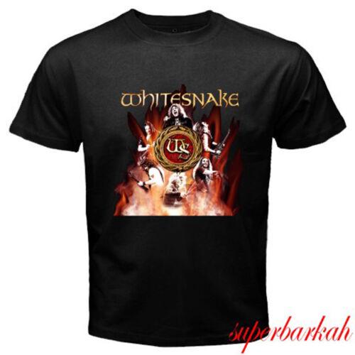 New Whitesnake Hard Rock Band Tour 2018 Logo Men/'s Black T-Shirt Size S-3XL