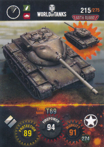 Name: T69 Panini World of Tanks Trading Cards Nr 215