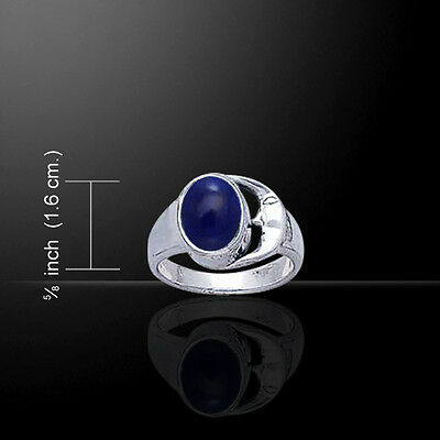 Labyrinth Sapphire Sterling Silver Pendant by Peter Stone Fine Jewelry