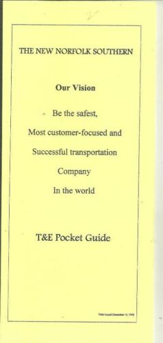 New Norfolk Southern T&E Pocket Guide 1998 Trains Railroad