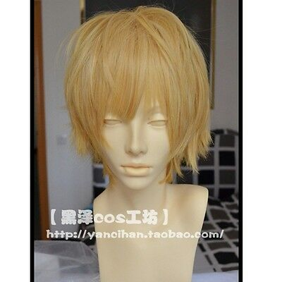 New Short Blonde Cosplay Party Wig High Temperature Wire Wig Hair