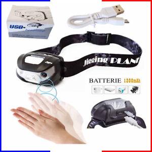SéRieux Lampe Frontale Rechargeable Usb Accu Frontal Puissante Batterie Torche Led Vue De Bons Compagnons Pour Les Enfants Comme Pour Les Adultes
