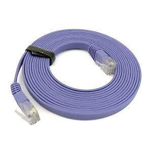10m cat6a rj45 ethernet lan netzwerk patch leine flaches kabel 10gbase t ebay. Black Bedroom Furniture Sets. Home Design Ideas