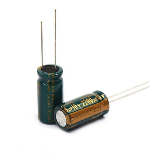 DR03 NEU 50 Stk Elko 2200 µF 16V Kondensator Stützkondensator Flackerschutz