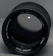 M42 VIVITAR AUTO TELEPHOTO f/2.8 135mm SCREW Mount Yashica Pentax Zenit Lens