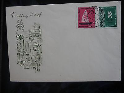 """Briefmarken Ddr Fdc 536/7 """"leipz Messe"""" Mit Orts-stempel """"dresden N6 A 1.9.56"""""""