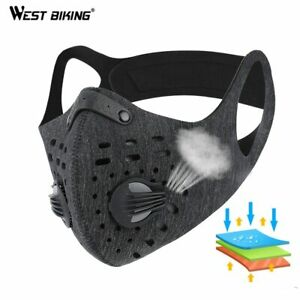 WEST-BIKING-Sport-Face-Mask-With-Filter-Activated-Carbon-PM-2-5-Anti-Pollution-R