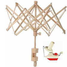 Brand New! Yarn Ball Winder and Wooden Umbrella Yarn Swift Combo! 6 ft EXPEDIATE