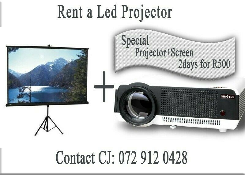 Hire a Projector and Screen