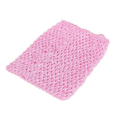"6''/9""/12""Crochet Tube Top Elastic Waistband Headband Hair Band Girls Tutu Skirt"