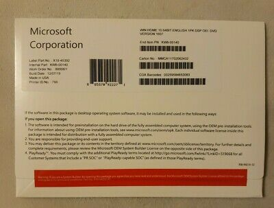 Microsoft Windows 10 HOME x64 DVD W/ Product Key FULL ...