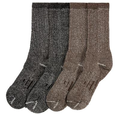 4 Large Pairs KIRKLAND Signature Hiking Trail Men Socks Merino Wool Made in USA