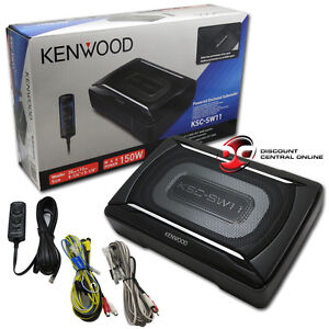 kenwood car under seat super slim powered subwoofer. Black Bedroom Furniture Sets. Home Design Ideas