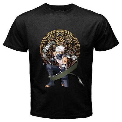 "NARUTO KAKASHI ""RAIKIRI"" Lightning Jutsu Anime Manga Mens Black T-Shirt S to 3XL"