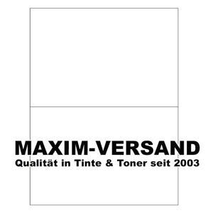 1000 Klebe-Etiketten weiß 210x148,5mm A4 Adress-Aufkleber selbstklebende Labels