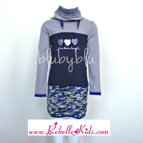 Blu By Blu Peace Out Girl/'s Triple Heart Camo Tunic Collection Sizes 6-14
