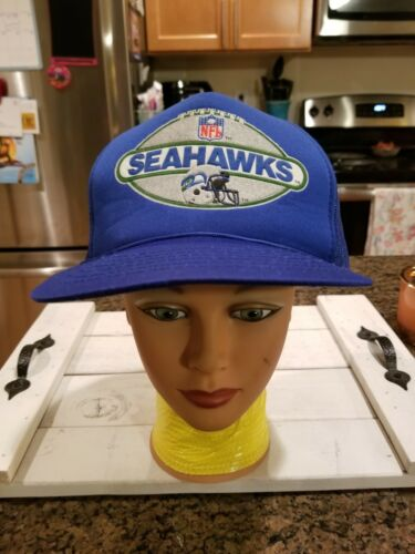 Vintage 80S HAT CAP SEATTLE SEAHAWKS TEAM NFL FOOT