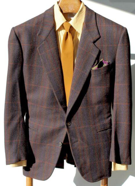 Ermenegildo Zegna/Max Dietl 44R Gent's Brown Check Cashmere Blazer - $2,495.00
