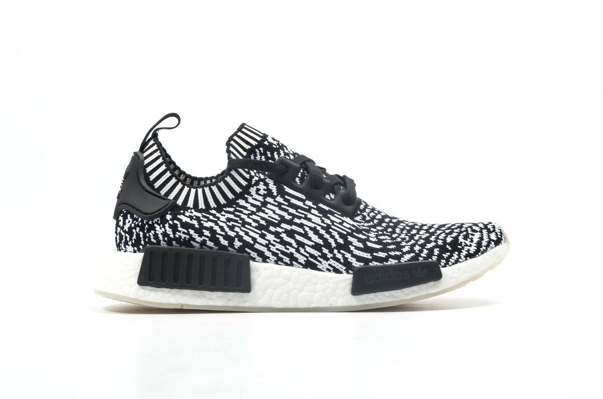 Adidas NMD_R1 PK Core Black White Primeknit Running BY3013 (443) Men's Shoes