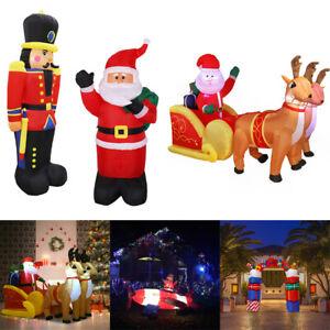 7FT-Inflatable-Santa-Sleigh-Reindeer-Jumbo-Soldier-Christmas-Holiday-Yard-Decor