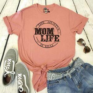 eee3994cf Mom Life The Hustle Is Real Shirt   Unisex Graphic Tee   eBay