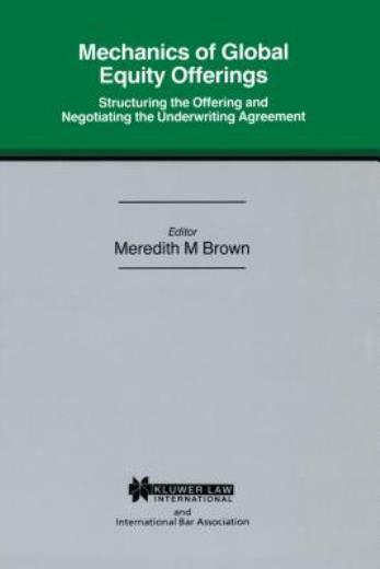Mech Of Global Eq Offerings Struc Offering & Neg Underwriting Agr