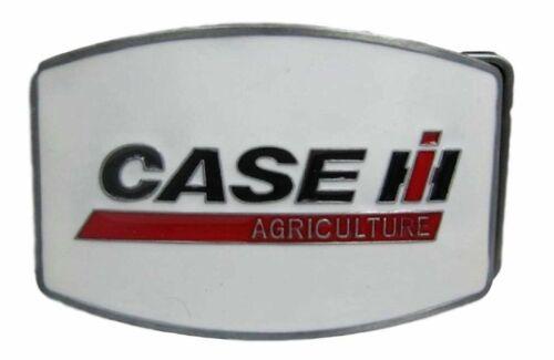 Case IH Agriculture White Logo Enamel Metal Belt Buckle