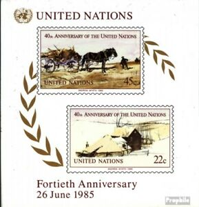 complete Issue Unmounted Mint Un-new York Block8 Never Hinged 1985 40 Years Making Things Convenient For The People