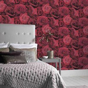 Arthouse Austin Rose Wallpaper Large Floral Roses Red 675600 Ebay