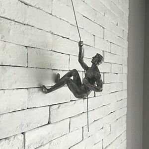 Image Is Loading Climbing Man Resin Made Iron Wire Wall Art