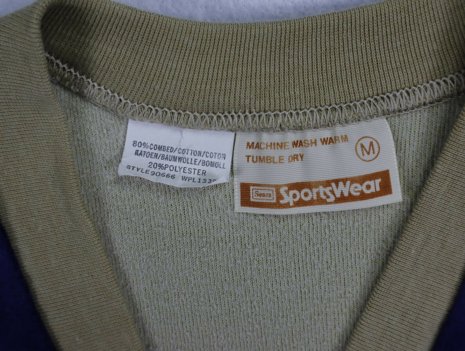 Sears Sportswear mens velour sweater medium brown… - image 4