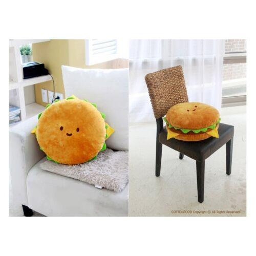 "Cotton Food Pillow Toy Doll Plush Bedding Car Cushion Hamburger 16/"" Large"