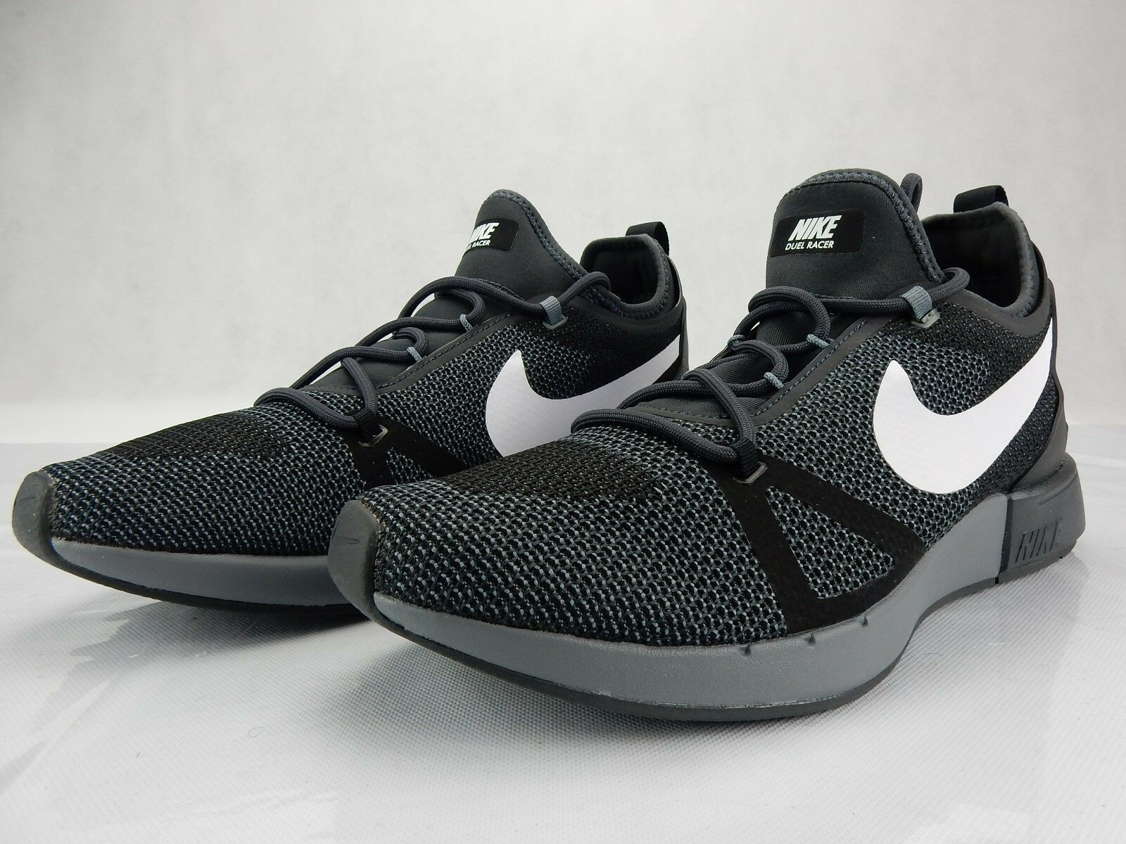 Nike Duel Racer Black White Anthracite Shoes s 918228 007 Size 11 Mens Sneakers