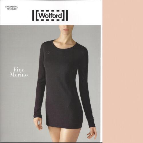 Large lana Tan Pink Bnwot migliore La Wolford merino Merino Pullover Fine qXntzS