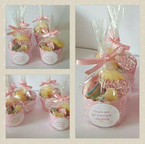 Pre-Filled cute sweet cup birthday baby shower favour personalised party bag