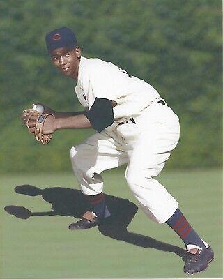 Ernie Banks Chicago Cubs at Wrigley Field Photo 8x10